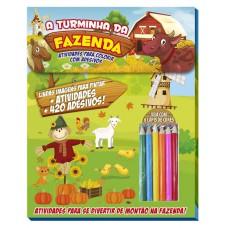 Turminha Da Fazenda Atividades Para Colorir Com Adesivos 01