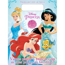 Disney Princesas - Prancheta para Colorir com Adesivos