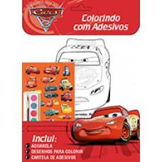 Carros - Disney Colorindo com Adesivos