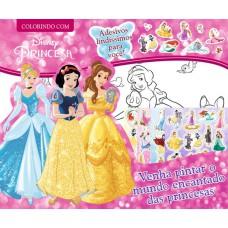 Disney Princesa - Colorindo com Adesivos
