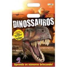 Dinossauros - Prancheta para Colorir com Adesivos 02