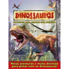 Dinossauros - Prancheta para Colorir com Adesivos 01