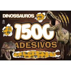 Dinossauros - Prancheta para Colorir com 1500 adesivos