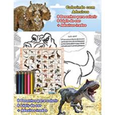 Dinossauros Colorindo Com Adesivos 01