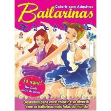 Bailarinas - Colorir com Adesivos