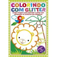Colorindo com Glitter - Animais da Selva