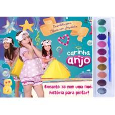 Carinha de Anjo - Prancheta Colorir com Aquarela