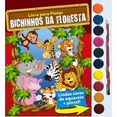 Bichinhos da Floresta - Livro para Pintar com Aquarela
