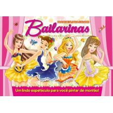 Bailarinas - Prancheta para Colorir