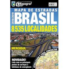 Mapa Mapograf de Estradas Brasil