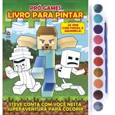 Minecraft: Livro para Pintar com Aquarela - Pró Games