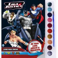 Liga da Justiça - Livro para Pintar com Aquarela