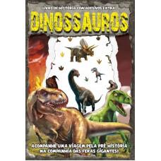 Dinossauros - Livro de História com Adesivos