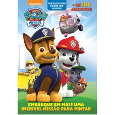 Patrulha Canina Prancheta Colorir Com Adesivos 01
