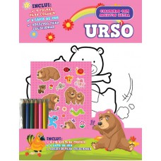 Colorindo Com Adesivos Extra 01 - Urso