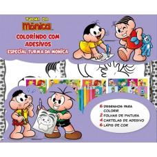 Turma Da Mônica Colorindo Com Adesivos Especial 06 - Turma Da Mônica