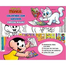 Turma Da Mônica Colorindo Com Adesivos Especial 03 - Magali