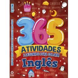 Inglês Livro 365 Atividades e Desenhos para Colorir
