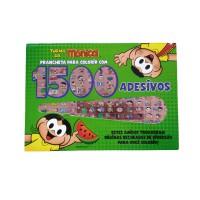 Turma da Mônica Prancheta para Colorir com 1500 Adesivos