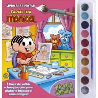 Turma da Mônica Livro para Pintar com Aquarela - Mônica