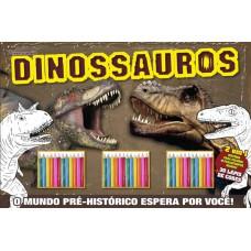 Dinossauros - Hora de Brincar (30 Lápis de cores)