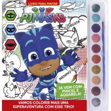 PJ Masks - Livro para Pintar com Aquarela