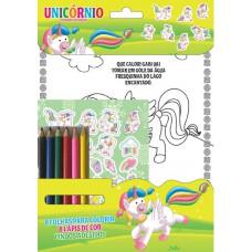 Unicórnios - Colorindo com Adesivos 01